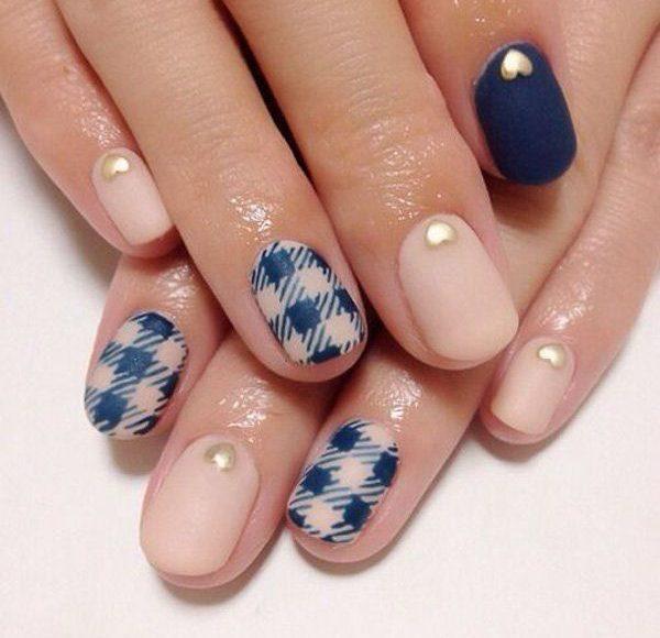 jesienny manicure